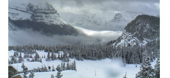 Logan Pass in snow