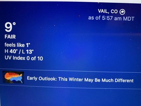 Vail weather
