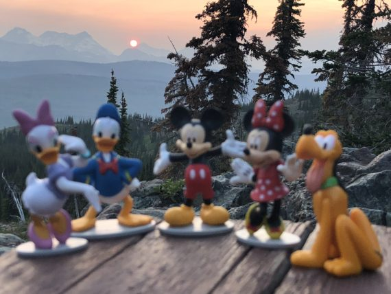 Disney Characters at Granite Park Chalet