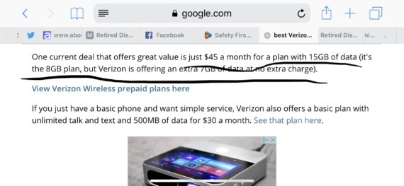 Verizon monthly plans