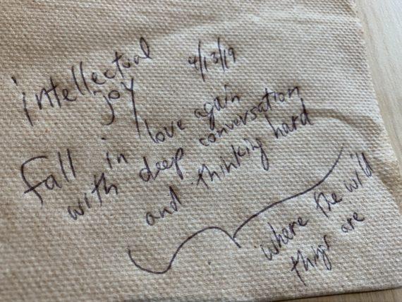 Wisdom on a napkin