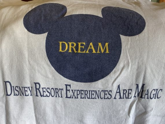 Disney Cast Member t-shirt from 1980's