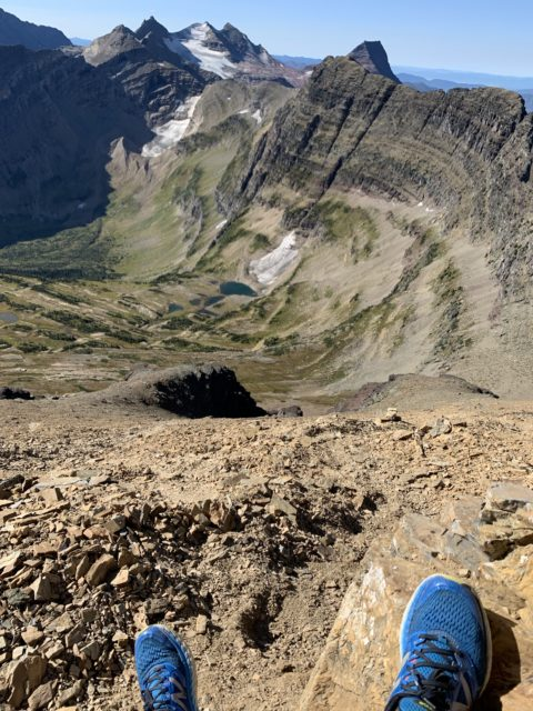 Glacier mountainside rest spot