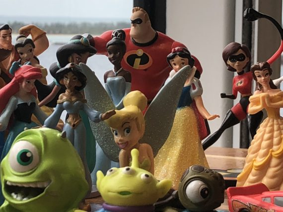Disney plastic character toys