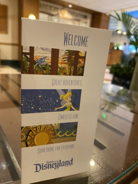 Paradise Pier hotel welcome/key packet