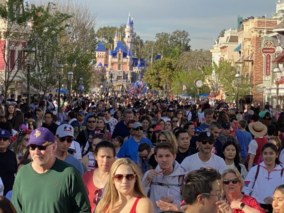 Disneyland crowd control