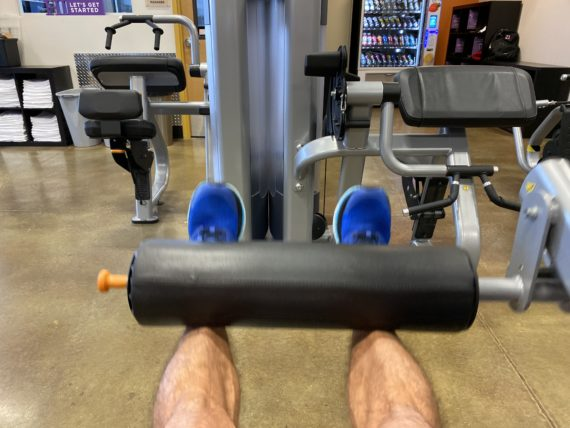 leg extension at gym