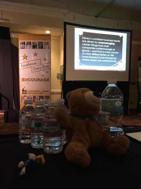 Jack the Bear travels with Disney speaker jeff noel