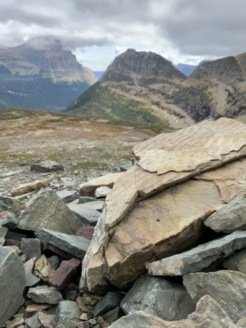 Glacier National Park from continental divide