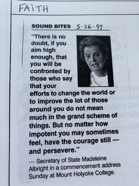 madeleine albright quote