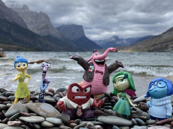 disney toys at mountain lake