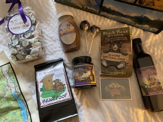 Glacier National Park goodie gift bag
