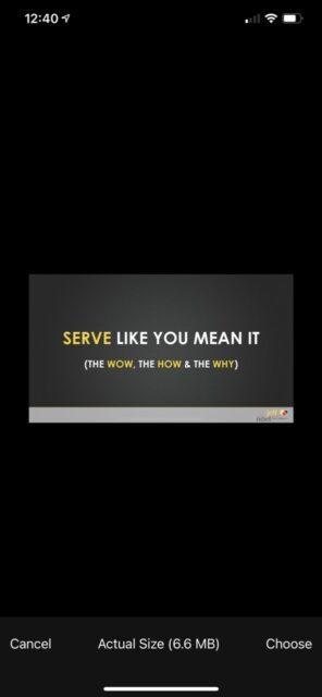 A keynote slide for a Speakers presentation