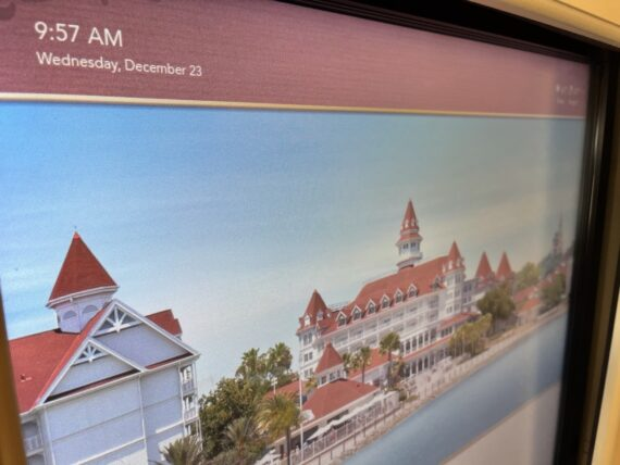 Disney's Grand Floridian convention center event board