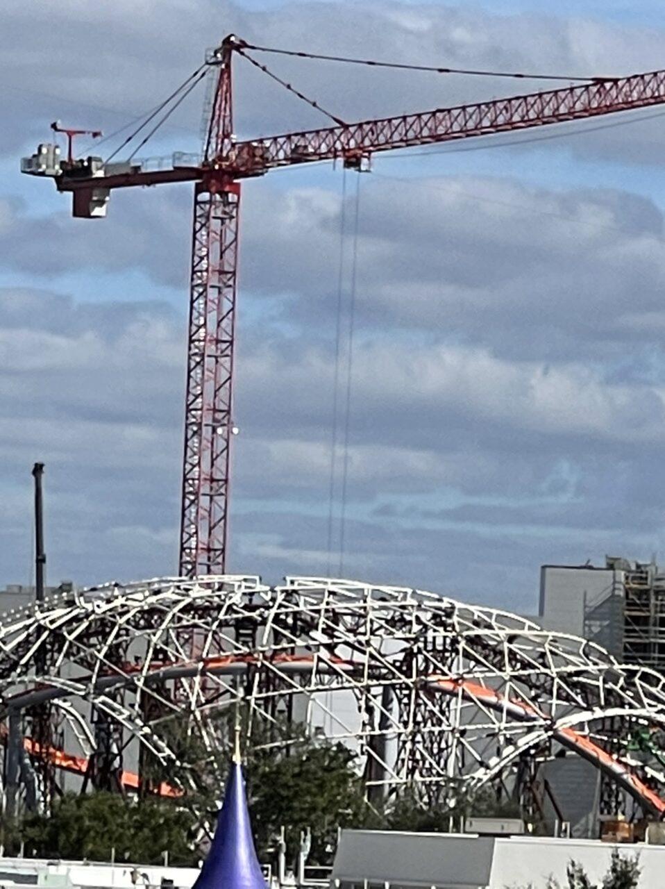 Large construction crane at Walt Disney World