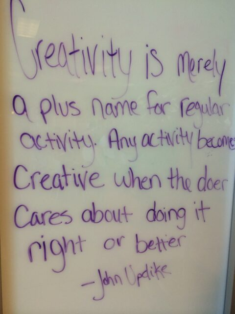 whiteboard creativity quote
