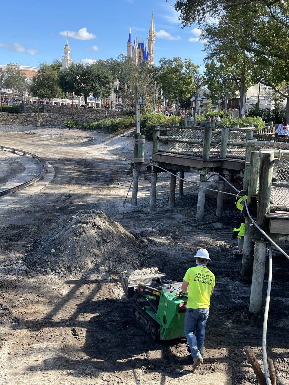 Walt Disney World construction at Frontierland