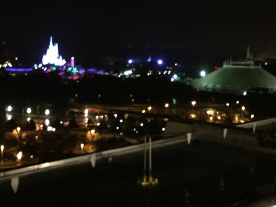 Magic kingdom at night from Disney's contemporary resort