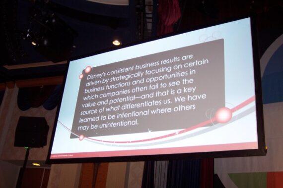 Disney Institute presentation slide