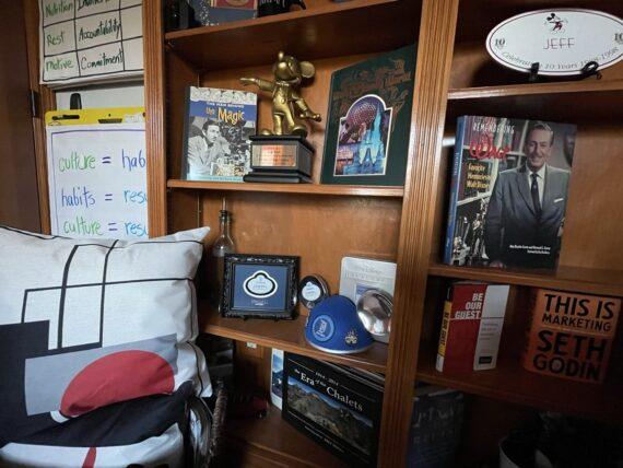 Home office bookshelves