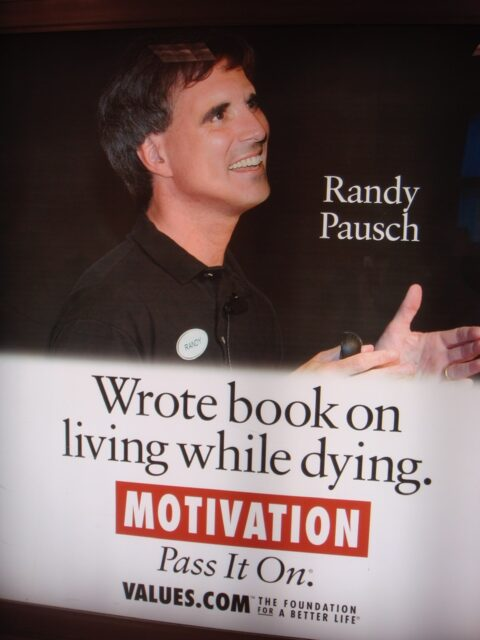 Advertisement for the Randy paunch the last lecture book