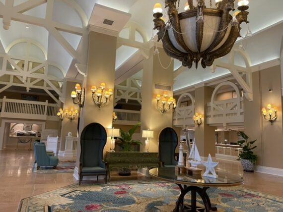 Yacht Club Resort lobby at Walt Disney World