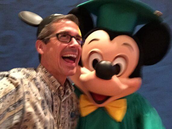 Disney Institute Keynote Speaker Jeff Noel and Mickey Mouse closeup
