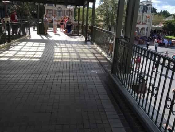 Magic Kingdom Train Station platform