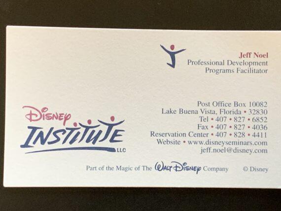 1990's Disney Institute business card