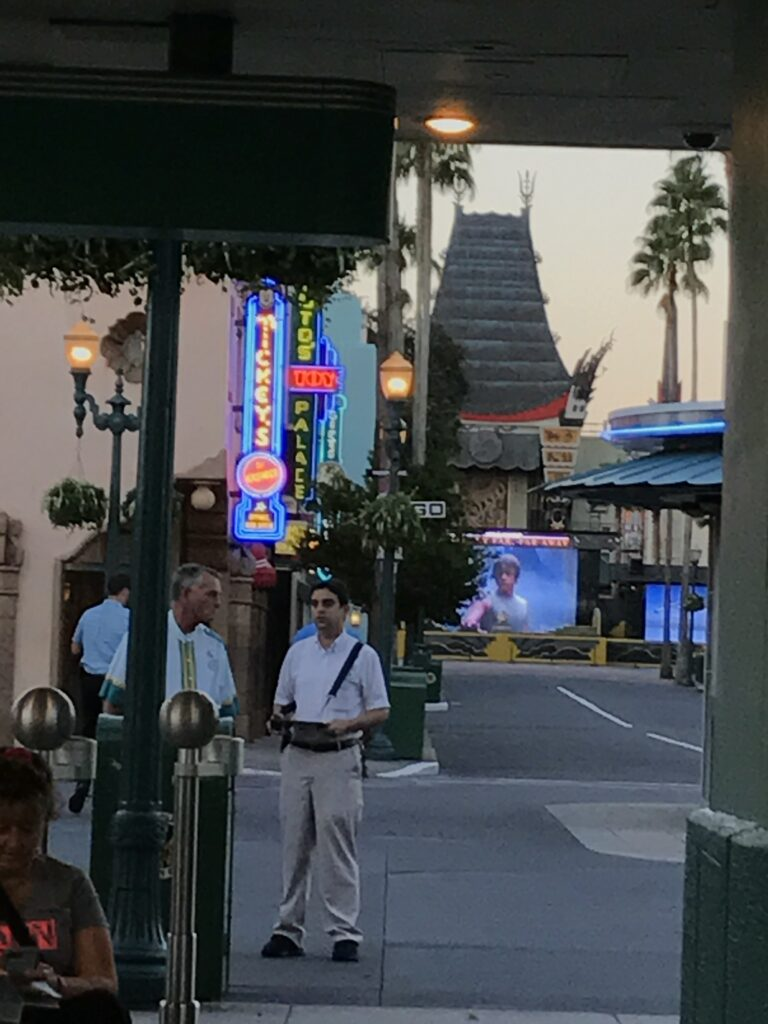 Disney's Hollywood Studios entrance before Park opening