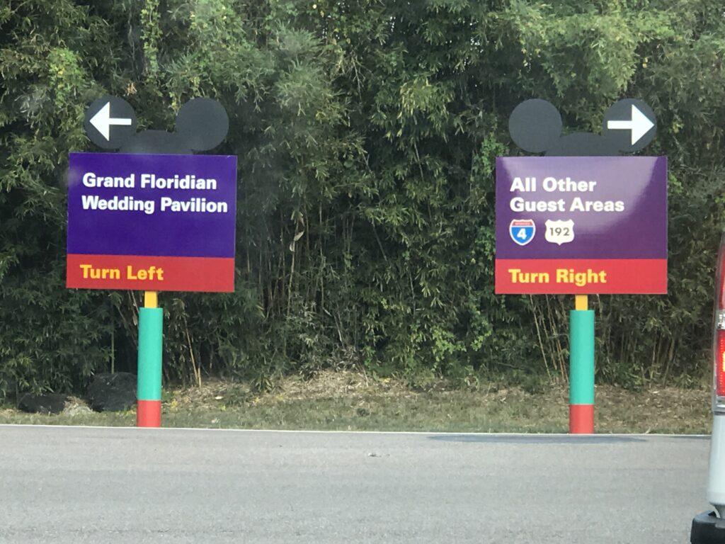 Disney traffic signs