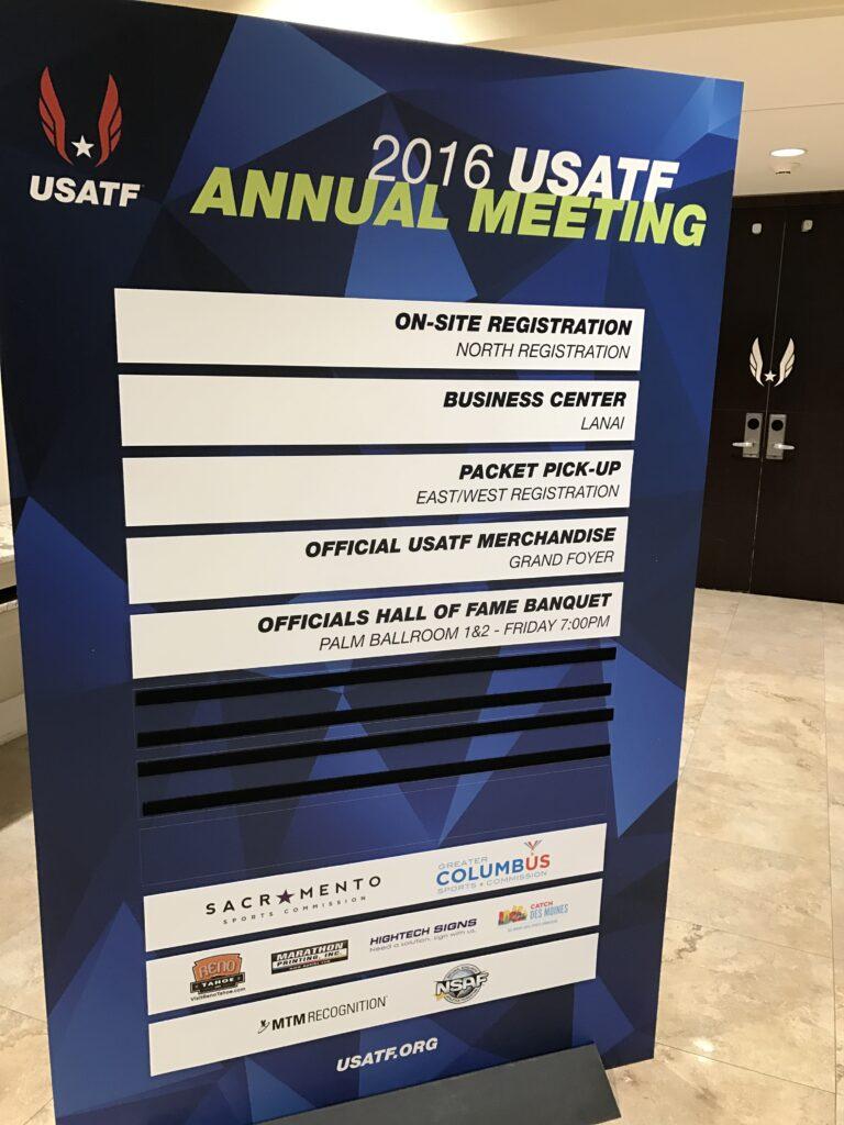 USATF annual meeting agenda board