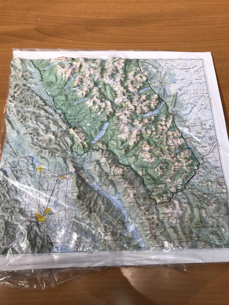 Glacier National Park Topographical map