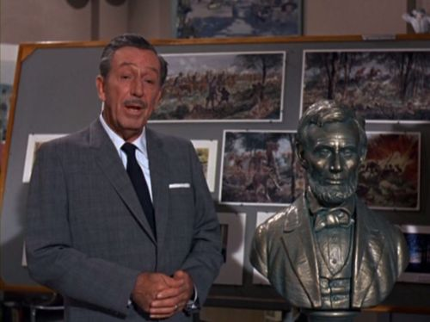 Walt Disney and bus of Abraham Lincoln