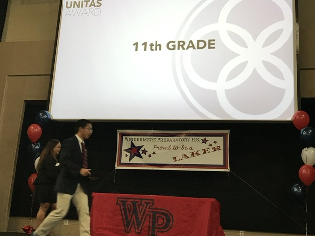 High School academic awards stage